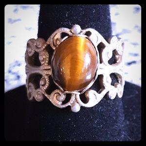 Victorian Ring Filigree Cateye Caboshon